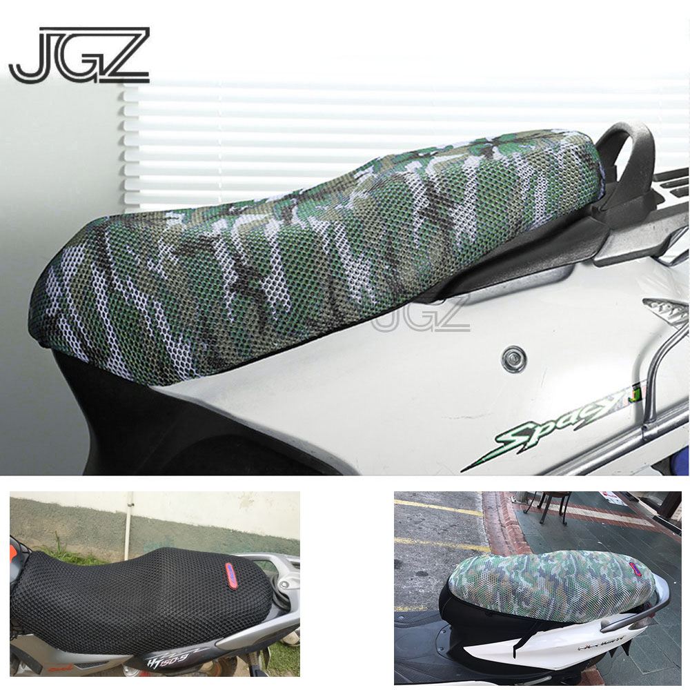 Motorcycle Seat Cover Breathable Insulation Sunscreen Water-proof Cushion Pad Protector Net For Scooter Yamaha BMW Benelli Vespa(China)