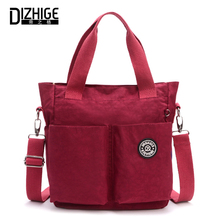 DIZHIGE Brand Fashion Bags Women Nylon Handbag High Quality Crossbody Bag For Women Solid Waterproof Messenger Bags Female Tote все цены