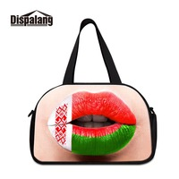 Dispalang New Design Functional Folding Female Weekend Bags Beautiful Travel Totes for Women Russia Style Prints Girls Canvas