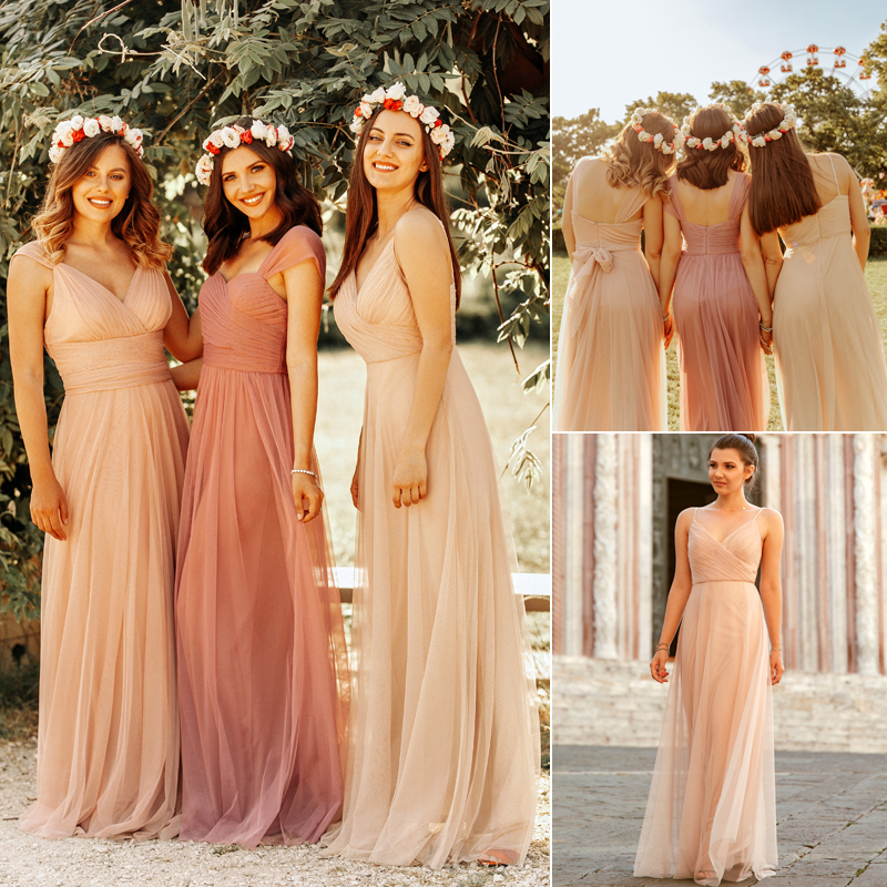 Blush Pink Bridesmaid Dresses Ever Pretty EP07303 Sweetheart A-line - Suknelės vestuvėms - Nuotrauka 4