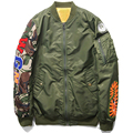 2016 camouflage Shark Pattern Japanese Winter Air Force Flight Jacket Pilot Youth Casual Bomber Coat Ma1 Thick Stand Zippers