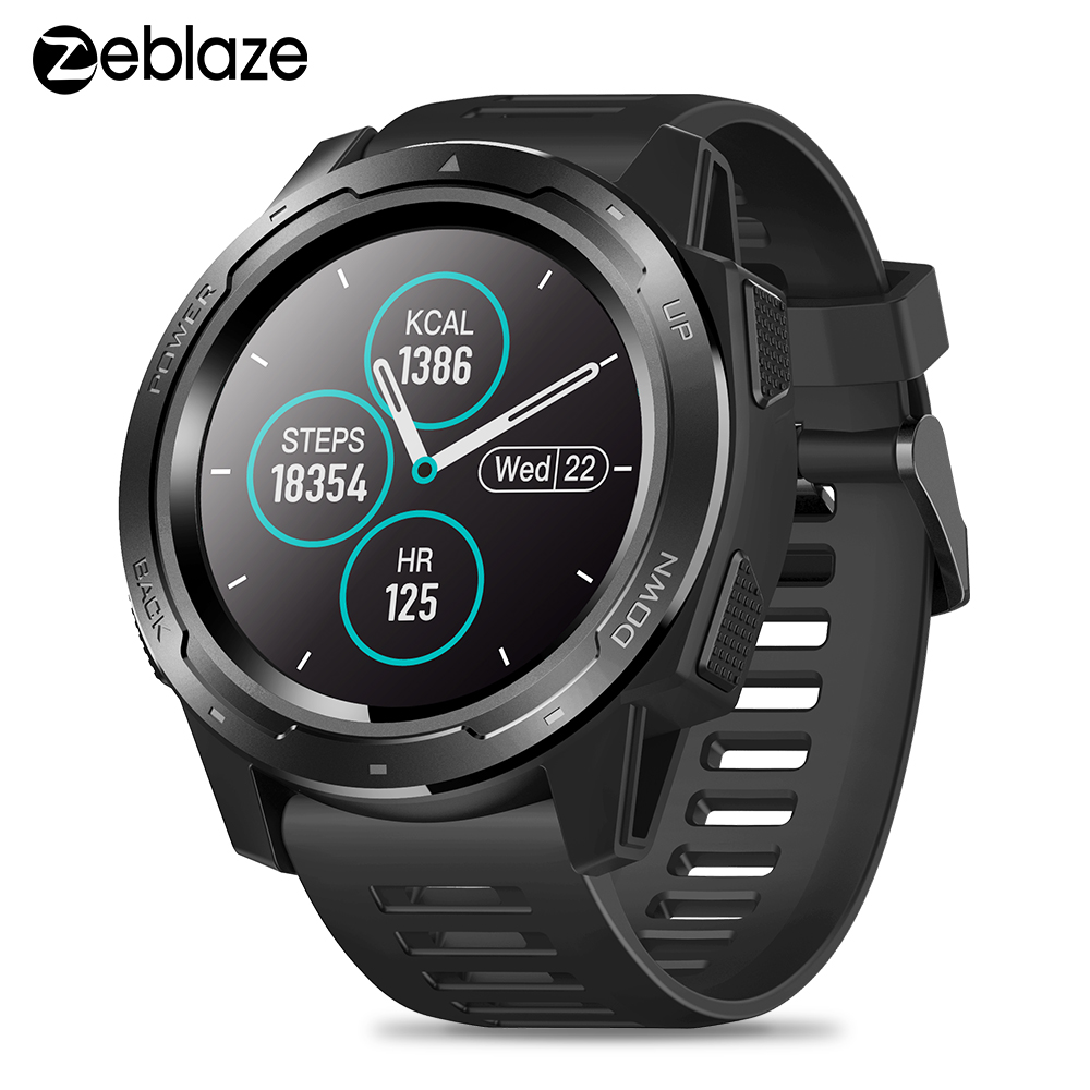 <font><b>New</b></font> <font><b>Smart</b></font> <font><b>Watch</b></font> Zeblaze VIBE 5 Multi Sensors Heart Rate Sleep Monitor Information Call Reminder Smartwatch IP67 Waterproof <font><b>2019</b></font> image