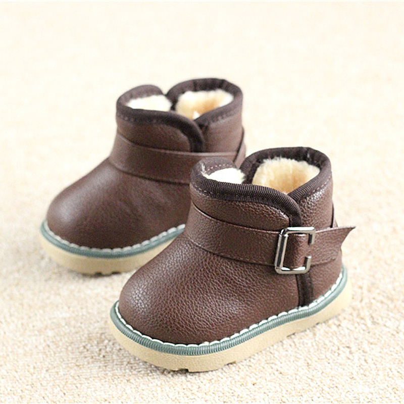 Winter-Warm-Boots-childkidgirlboy-Warm-Bootst-antislip-sole-short-boots-waterproof-leather-cotton-padded-shoes-1