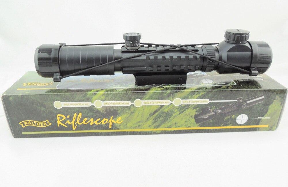 Super Uso Militar 3-9X32 Tri Rail Red Green Rangefinder Rifle Scope (MR33)
