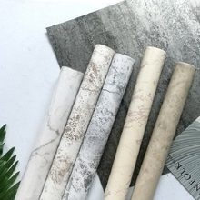 PVC Imitation marble wallpaper Self-adhesive office living room bedroom stone wallsticker 45cmx10m background decoration film