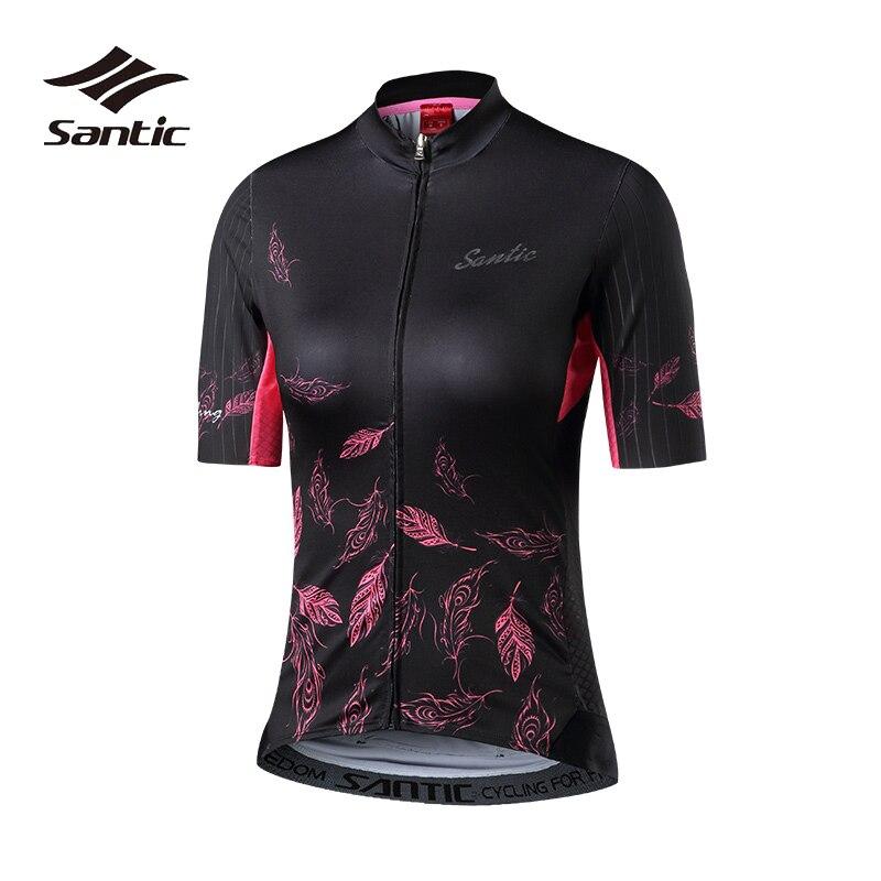 Santic maillot de cyclisme femmes séchage rapide vélo de route Jersey 2018 respirant Pro équipe vélo maillot cyclisme chemise vêtements