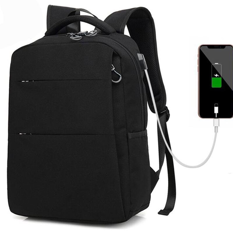 New Men Backpack School Backpack Casual Daypack Water-Repellent Laptop Bag with USB Charging Port for Travel College School Bag