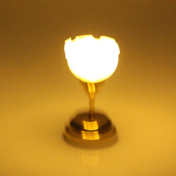 1:12 ölçekli Dollhouse minyatür duvar masası masa tavan LED ışıkları lamba yatak odası oturma odası mobilya dekorasyonu Acc altın
