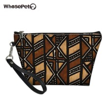 WHOSEPET African Black Art girls Women Cosmetic Bag for Cosmetics Travel Organizer Female Makeup Bags Trousse Maquillage Femme