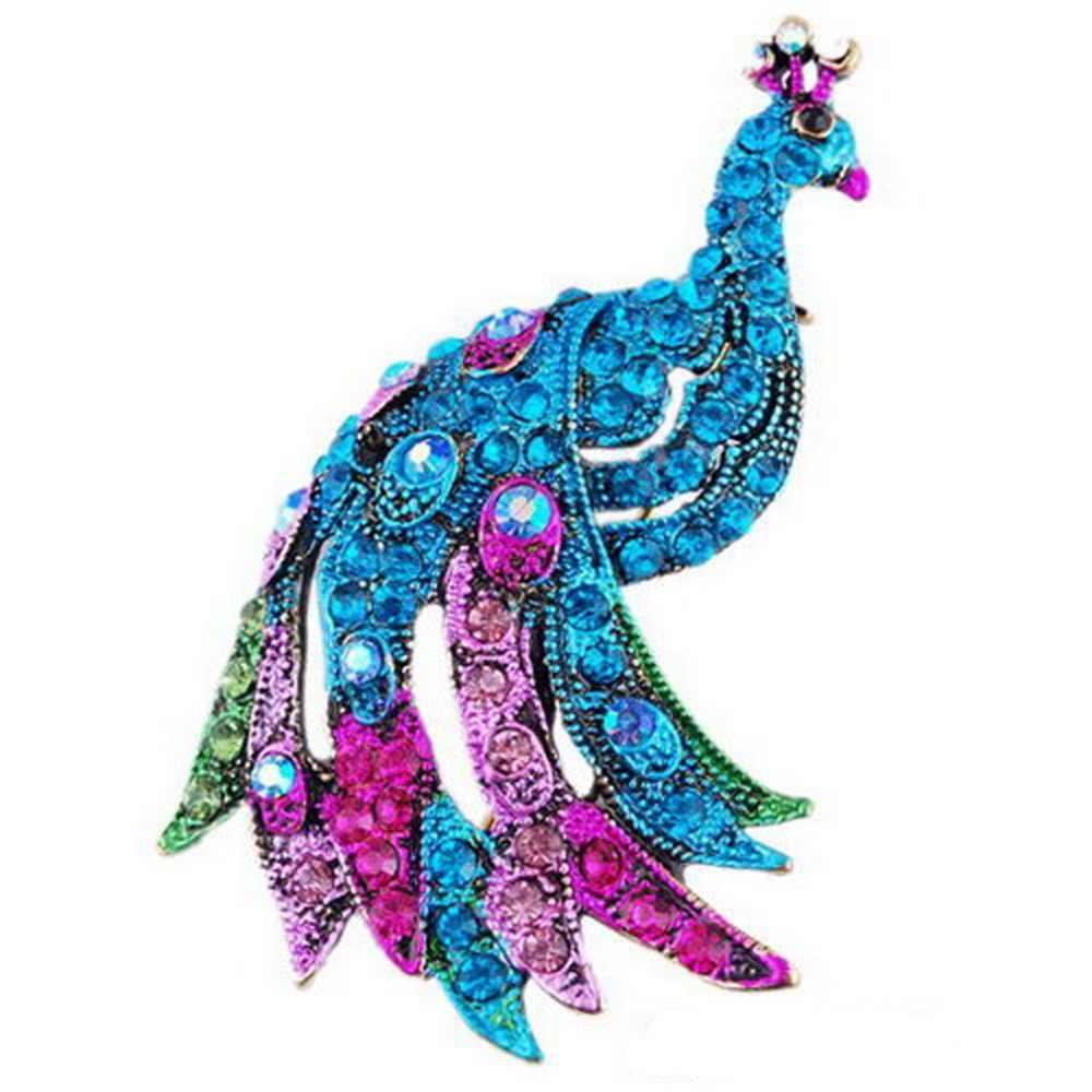 Модная брошь в виде павлина, синий, зеленый цвет, серебро, животное, трендовая, сплав, для женщин, девушек, женщин, для свадьбы, вечерние, для женщин, лучший специальный подарок