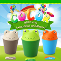 Novelty frog baby safety ladle bath scoop for children wash 1pc free shipping