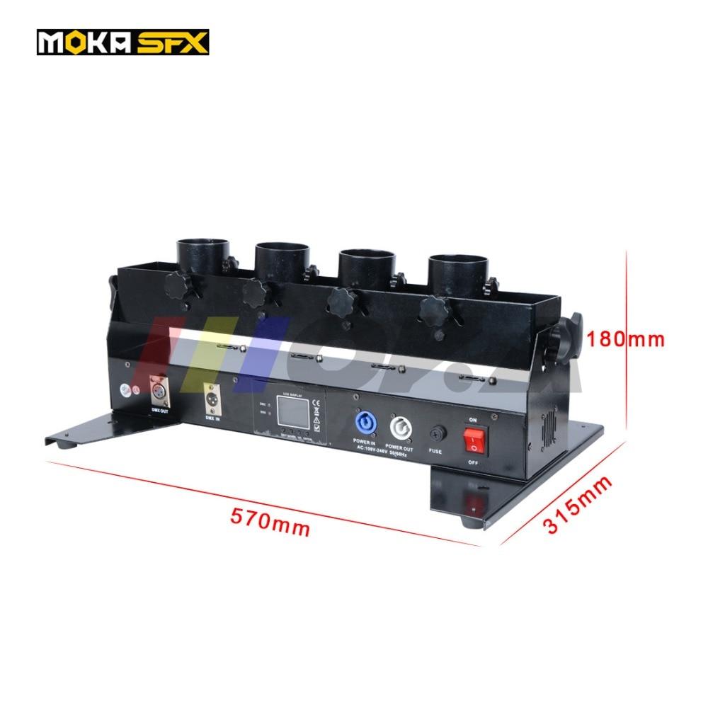 4 Heads Confetti Streamer Machine Dmx Spray Colorful Confetti Launcher Wedding Dj Stage Effect