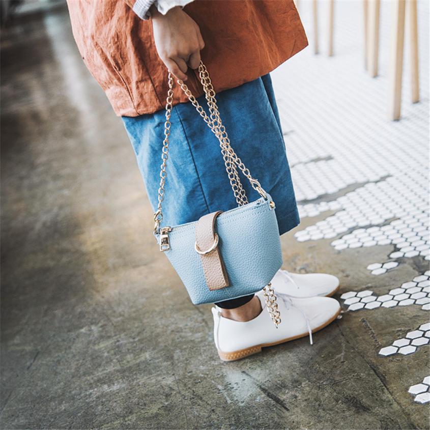 Детская из искусственной кожи для девочек милый сумка Сумка девушки мини сплошной цвет молнии пряжки небольшой площади сумка # W