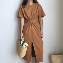 Wrap Loose Long Side Split Bandage Dress