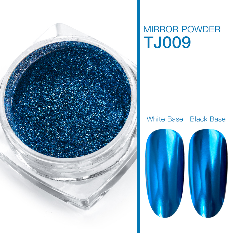 Волшебное зеркало блеск для ногтей Dip порошок Сияющий хром пигмент пыль голографическое искусство ногтей Маникюр УФ пудра для ногтей гель лак - Цвет: VS00735