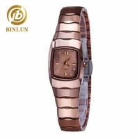 BINLUN Tungsten Steel Couple Watches Couple Automatic Quartz Watches Waterproof Fashion Unisex Wristwatch Pair Watch Couple Gift