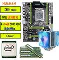 HUANAN zhi de V2.49 X79 placa base LGA2011 ATX CPU E5 2680 v2 SR1A6, 4x16, 4x18G 64 GB 1866 mhz con enfriador USB3.0 PCI-E M.2 SSD