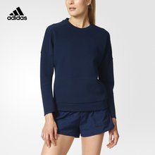 Adidas New Arrival Stylish Woman Knitted Pullovers Women's Hoodies Navy Blue S94580 outdoor Sportswear Free Shipping