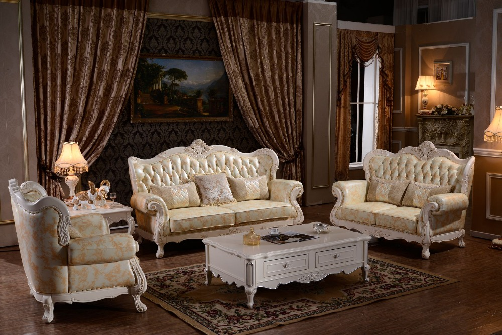 Lizz Chesterfield Sofa Suit Luxury Leather Sofa Button