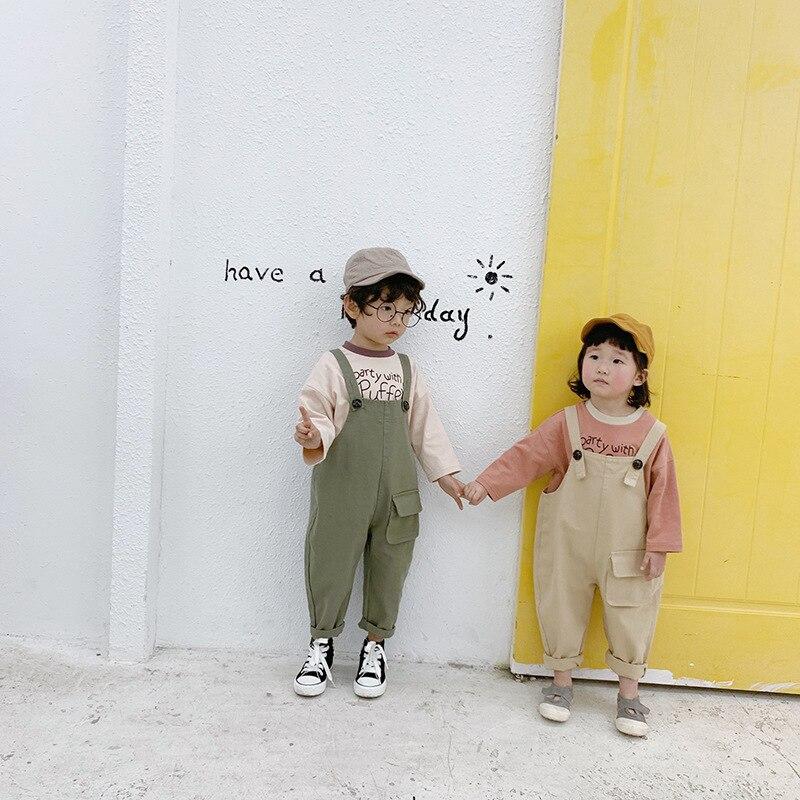 Meninas de Moda Bolso Grande Calças Meninos