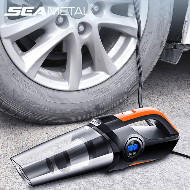 12V Vacuum Cleaner Car Air Compressor Inflatable Tyre Pump Universal Air Pump Compressore Tire Pump Car Handheld Vacuum Cleaner