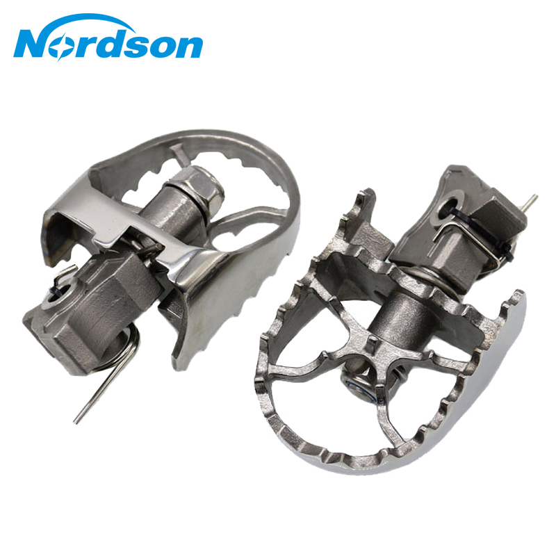 Nordson Wide Rotating Footpegs Footrest For BMW R1200GS Adventure F800GS G650GS F650GS Twin 2008-2013 large side stand foot enlarger kit fit for bmw g650gs 2009 2013