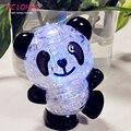 3D головоломка со светодиодными лампочками Панда, головоломка для взрослых, креативные пазлы для детей, подарок на день рождения, быстрая доставка