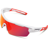 Polarized Sports Sunglasses With 4 Interchangeable Lenes For Men Women Cycling Running Driving Fishing Golf Baseball