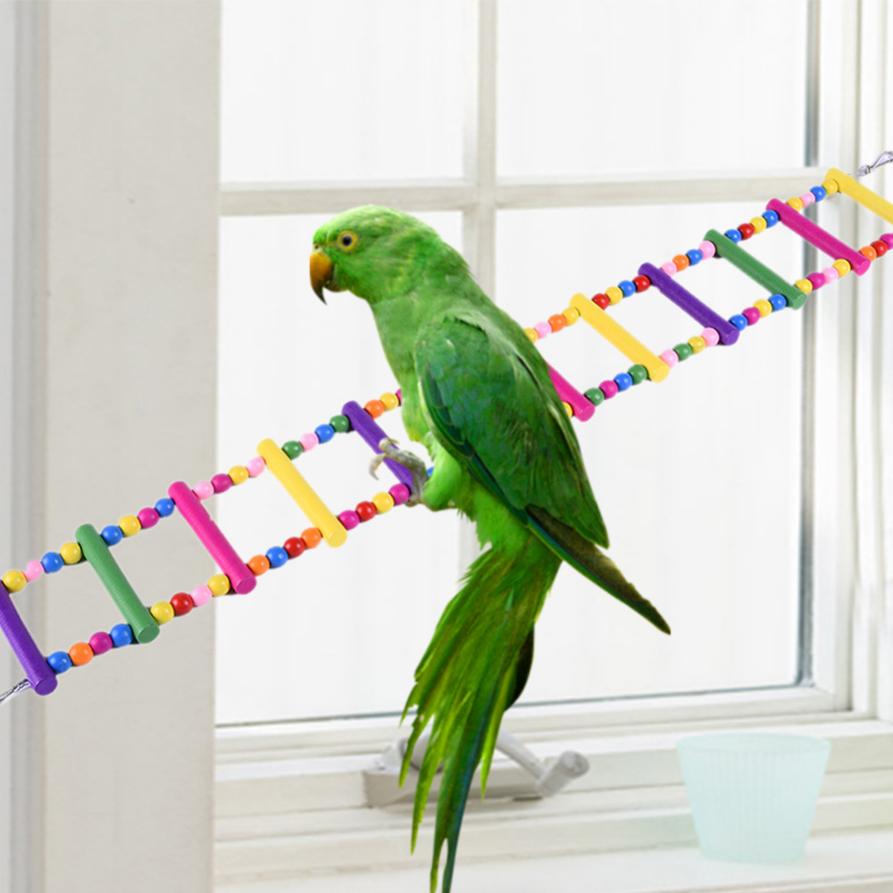 Scale Di Risalita Casa us $5.62 25% di sconto legno scaletta rampicante pet uccello pappagallo  scaletta swing formazione giocattoli colorati di legno scala di risalita  8/12