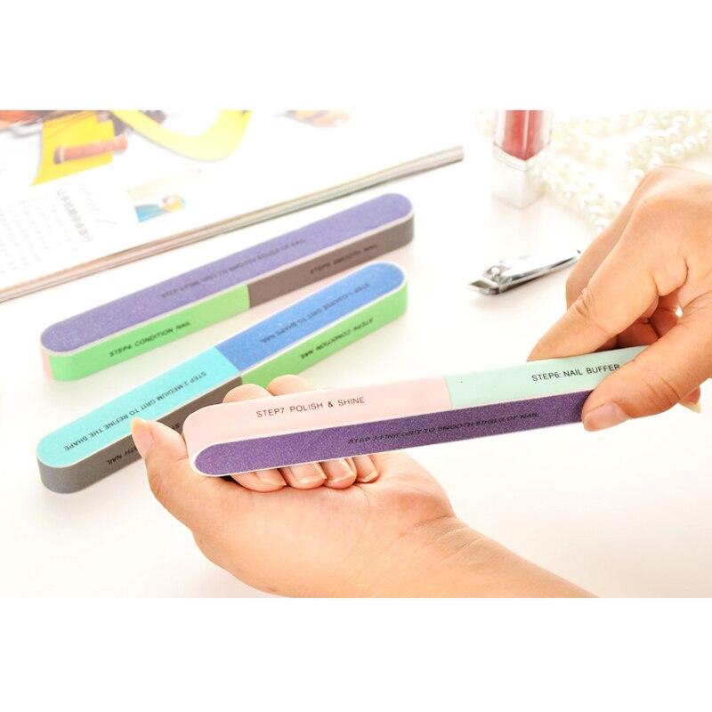 3Pcs/Lot Nail Art Buffer Nail File Block Pedicure Manicure 6 Ways Buffing Sanding Polish Makeup Beauty Tools Nail Accessories