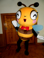 Ohlees bee Mascot Costume Despicable Me fancy Cartoon Moive costume Free Fast Shipping
