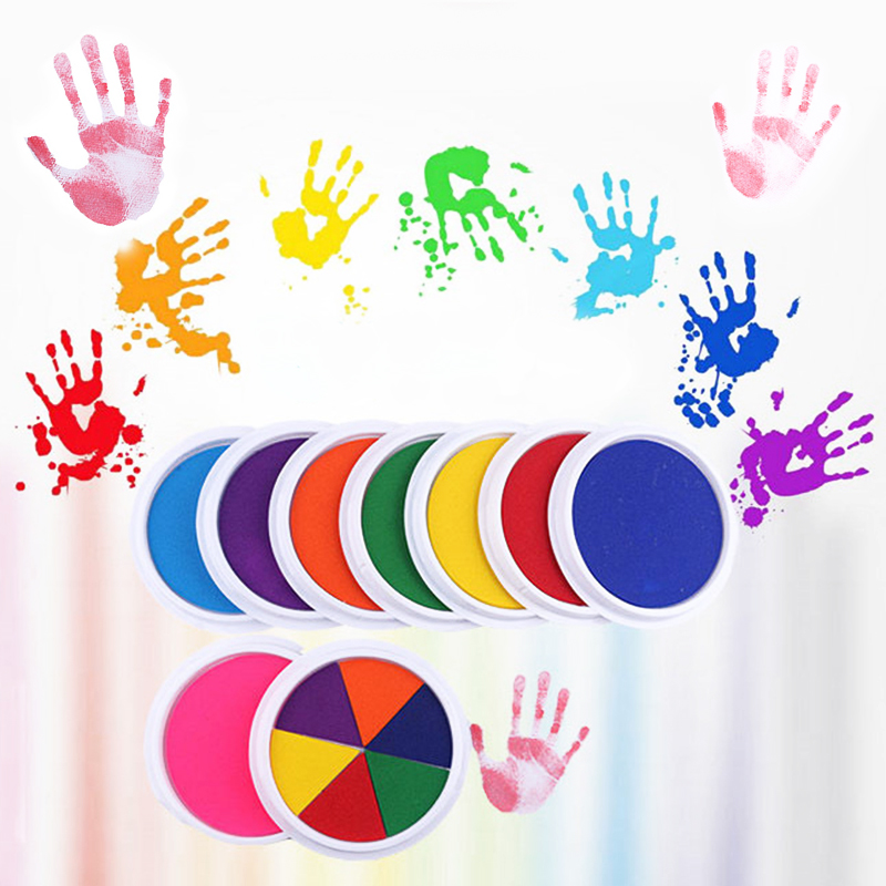 Funny 6 Colors DIY Finger Painting Drawing Toys Baby Funny Graffiti Colored Drawing Craft Inkpad Stamps Drawing Toy For Children