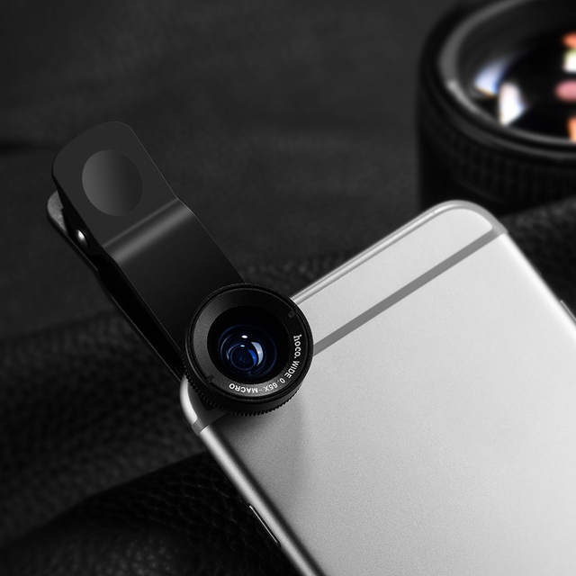 1eadffee2e4c24 HOCO Cell Phones Camera Lens Clip 2 in 1 Kit Wide Angle 0.65 Macro Zoom 10X  Universal for Smartphones iPhone Samsung Xiaomi-in Mobile Phone Lenses from  ...