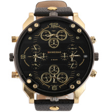 Shiweibao Cool Mens Watches Top Brand Luxury Quartz Watch For Men Four Time Zones Military Wristwatches Leather Relojes Hombre стоимость