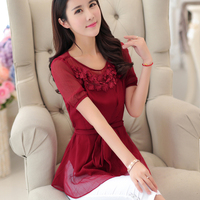 2015 Summer New Code Fat Mm Korean Version Of Women S Fashion Leisure Ladies Shirt Sleeved