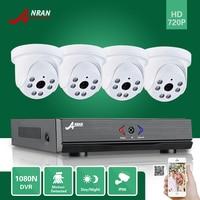 ANRAN 4CH 1080N AHD DVR HDMI 6 IR Day Night 720P 1800TVL Indoor Dome Camera CCTV