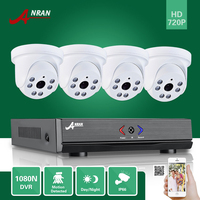 ANRAN 4CH 1080N AHD DVR HDMI 6 IR Day Night 720P 1800TVL Indoor Dome Camera CCTV