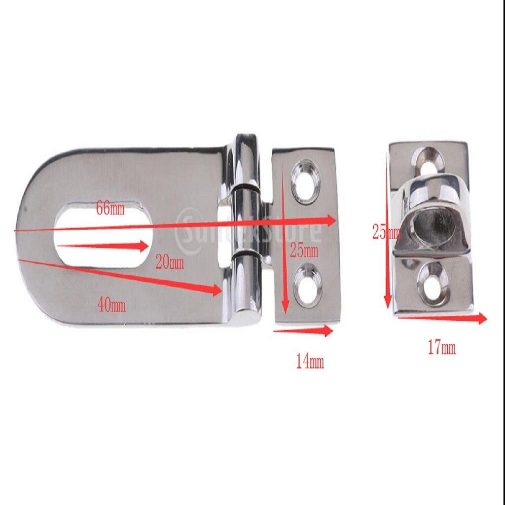 Image 5 - 1 Set Silver Boat Swivel Hasp Lock Hinge Hardware Parts 316 Stainless Steel Fit Boat/Yacht/RV Locker Door Dock Box Garage Door-in Marine Hardware from Automobiles & Motorcycles