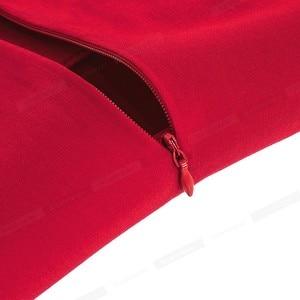 Image 5 - נחמד לנצח בציר מוצק צבע אלגנטי שמלות חג המולד עם כובע שרוול אונליין Pinup נשים התלקחות נדנדה שמלת A067
