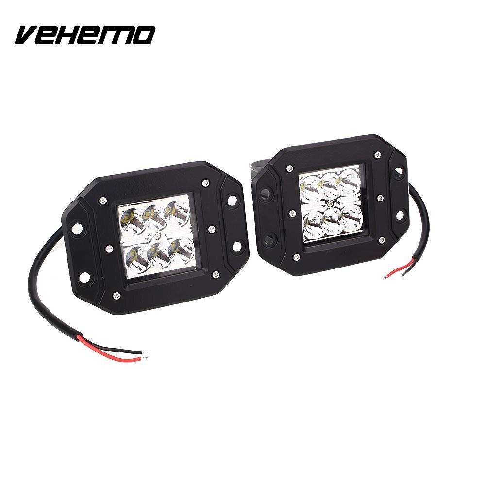Vehemo 2 шт. 5 дюймов автомобиль off road светодиодные панели свет работы Освещение вождения Лампы для мотоциклов DC 12-24 В 30 Вт