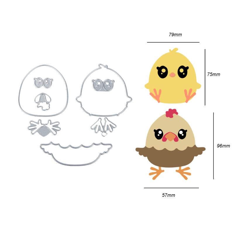 8pcs/Set Cute Chick Metal Cutting Dies Stencil for Scrapbooking Die ...