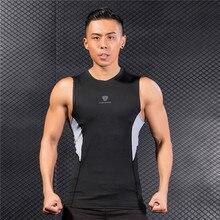 FANNAI Mens Running GYM Vest Shirts Black Patchwork Training Jersey Sleeveless Workout Tank Top Fitness Tights Sport Gym Shirt