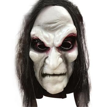 Long Hair Ghost Scary Mask Halloween Zombie Mask Props Grudge Ghost Hedging Zombie Mask Realistic Masquerade Halloween Mask image