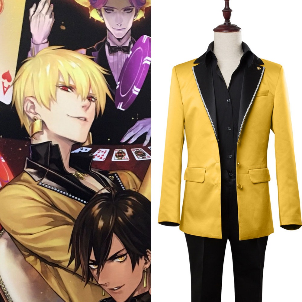 Hot Anime Fate Grand Order Cosplay Gilgamesh Suit Adult Men Full Sets Uniform Cosplay Costume Halloween Custom Made Any Size