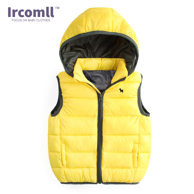 warmstraw Baby Infant Cotton Hooded Vest Winter Warm Puffer Sleeveless Jacket Waistcoats