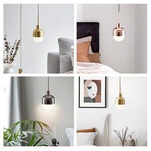 Image 3 - LukLoy Nordic Bedside Kitchen Island Pendant Light Modern Bedside Hanging Lamp LED Lighting Fixture Popular Suspension Lights