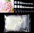 500pcs Natural False Toe Tips Round Nail Art Tips Full Cover Acrylic Tip UV Gel Deco