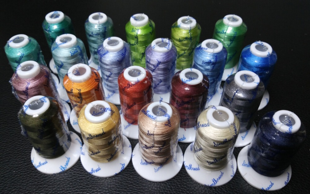 High quality 21 popular Similar Gunold colors embroidery machine thread 500m each Ideal for multi function
