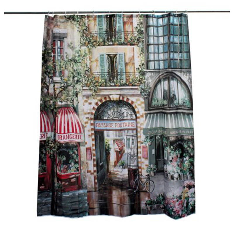 180x200cm Vintage European Waterproof French Street Bathroom ...