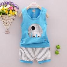 2016 New Brand Kids Designer Clothes Baby Boys Animal Clothing Sets Cute Sports Cloths Tshirt + Short Pants Formal Vest For Boy
